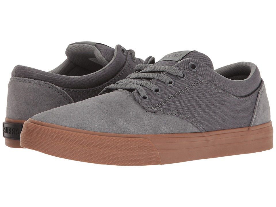Supra - Chino (Grey/Gum) Men's Skate Shoes