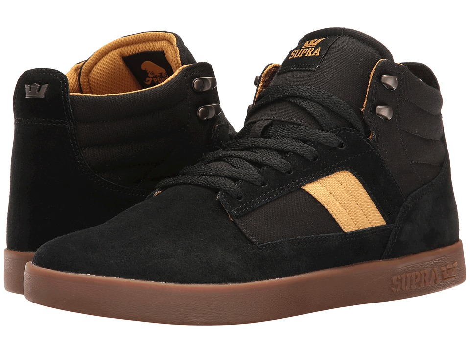 Supra - Bandit (Black/Amber Gold/Gum) Men's Skate Shoes