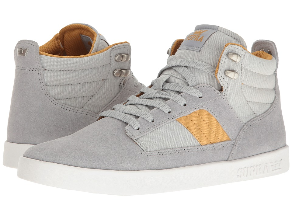 Supra - Bandit (Light Grey/Amber Gold/White) Men's Skate Shoes