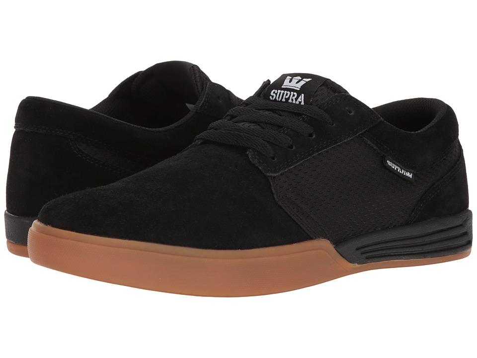 Supra - Hammer (Black/Gum) Men's Skate Shoes