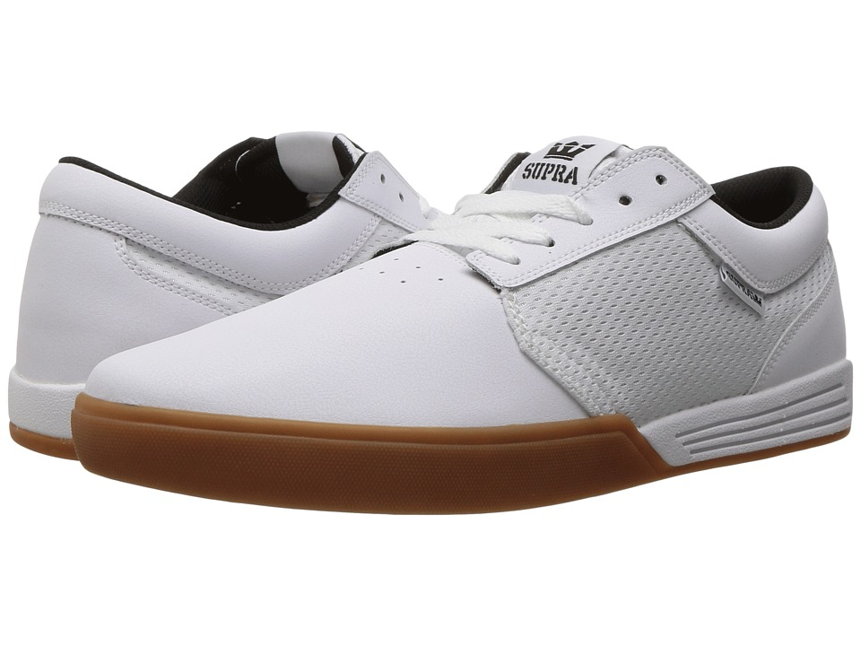Supra - Hammer (White/Gum) Men's Skate Shoes
