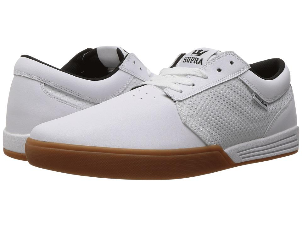 Supra - Hammer (White/Gum) Men's Skate Shoes