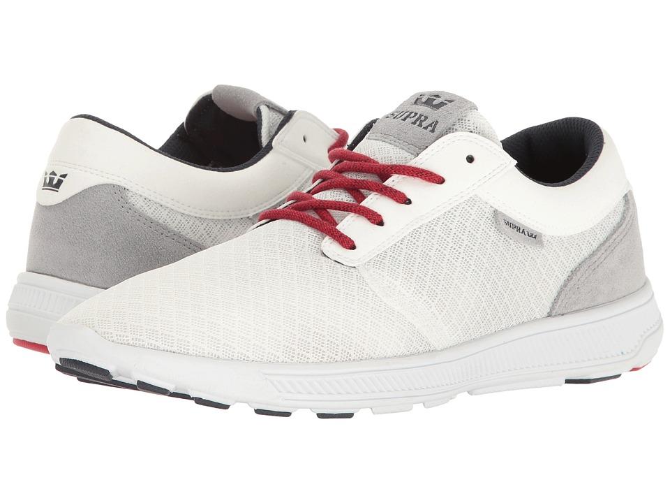 Supra - Hammer Run (White/Red/White) Men's Skate Shoes
