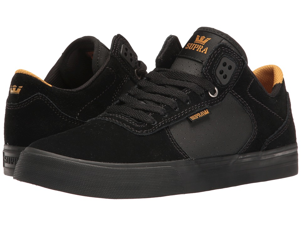 Supra - Ellington Vulc (Black/Amber Gold/Black) Men's Skate Shoes