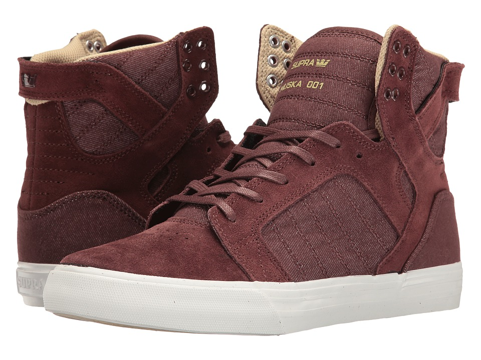 Supra - Skytop (Mahogany/White) Men's Skate Shoes