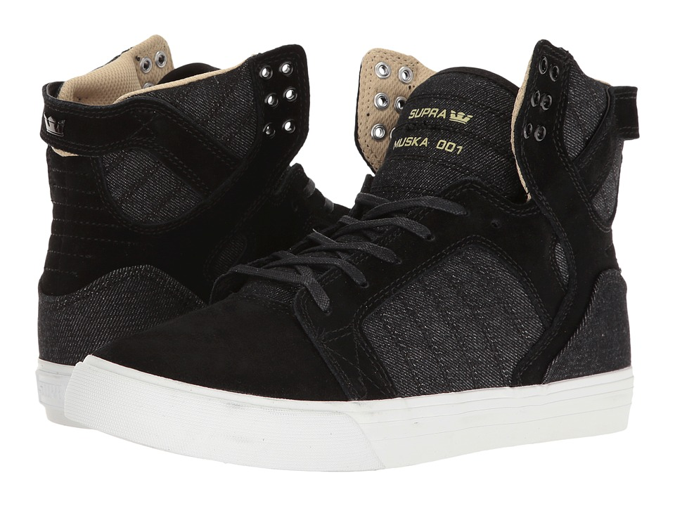 Supra - Skytop (Black Suede/Black Canvas) Men's Skate Shoes