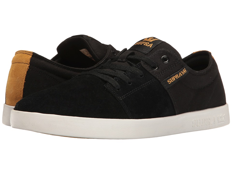 Supra - Stacks II (Black/Gold/White) Men's Skate Shoes