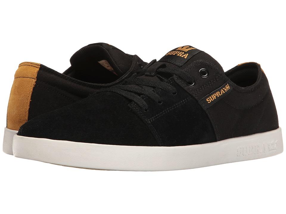 Supra - Stacks II (Black/Gold/White) Men's Skate Shoes