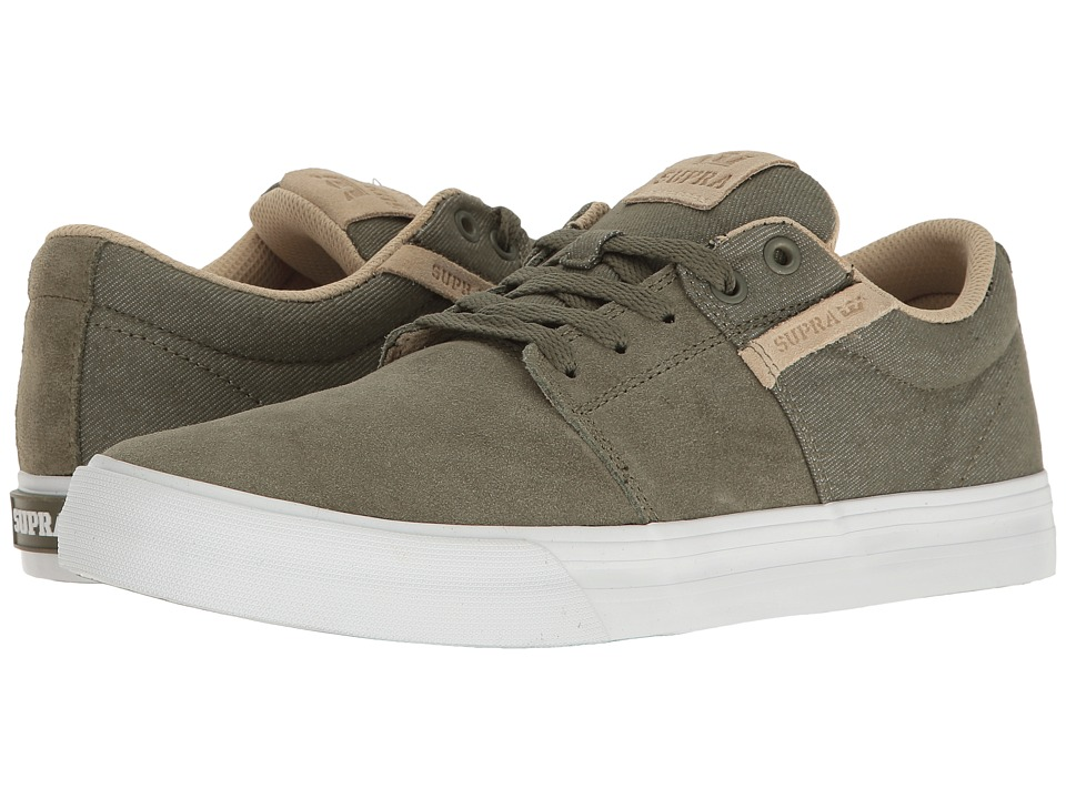 Supra - Stacks Vulc II (Olive/White) Men's Skate Shoes
