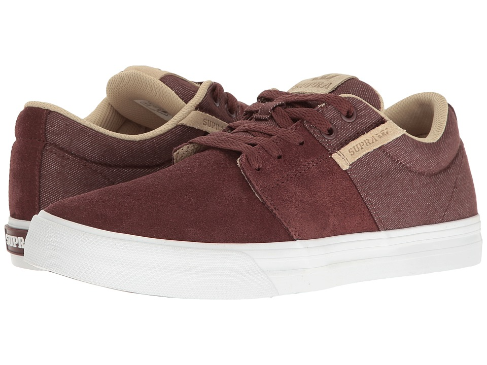 Supra - Stacks Vulc II (Mahogany/White) Men's Skate Shoes