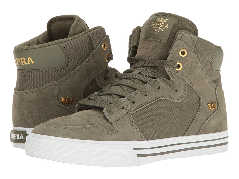 Supra - Vaider (Olive/White) Skate Shoes