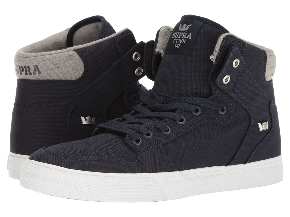 Supra Vaider (Navy/White Canvas) Skate Shoes
