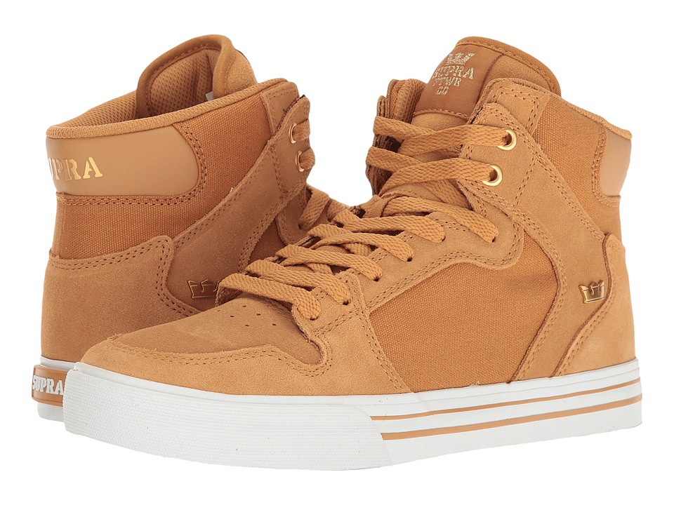 Supra - Vaider (Amber Gold/White) Skate Shoes