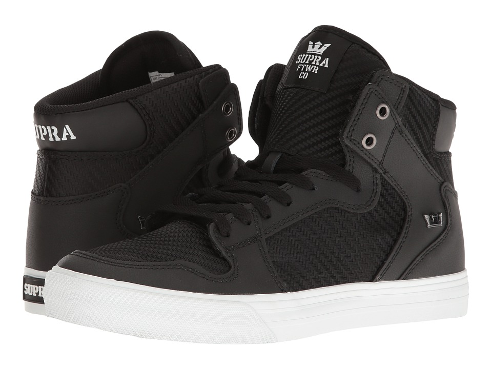Supra - Vaider (Black/Black/White Multi Snake) Skate Shoes