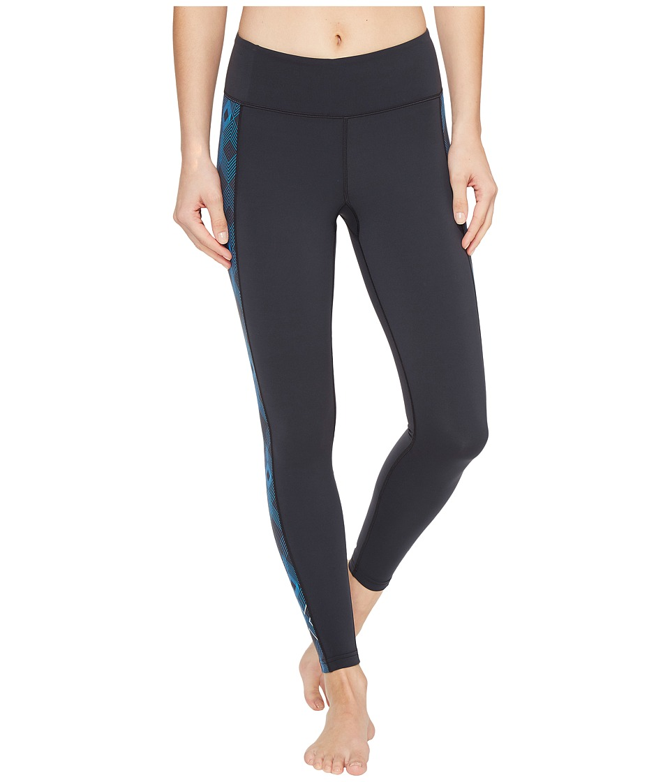 2XU - Active Compression Tights (Dark Charcoal/Geo Director Blue) Women's Workout