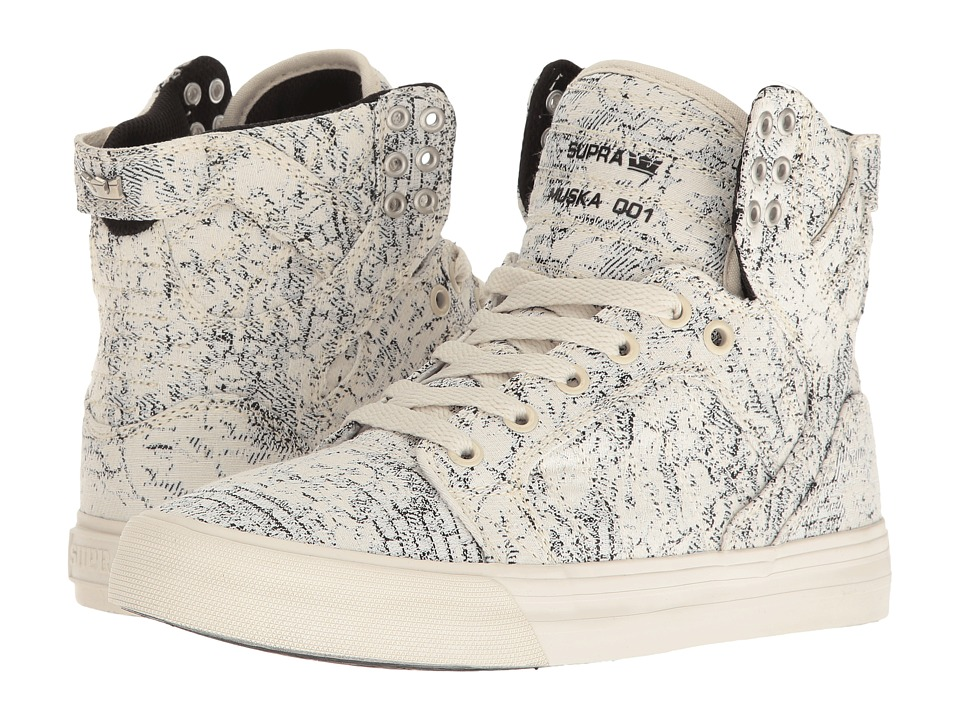 Supra Skytop (White/Black/Woven) Women