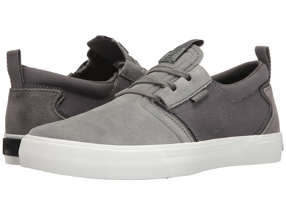 Supra - Flow (Grey/White) Men's Skate Shoes