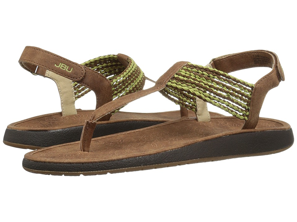 JBU - Yasmin (Saddle/Sage) Women's Sandals
