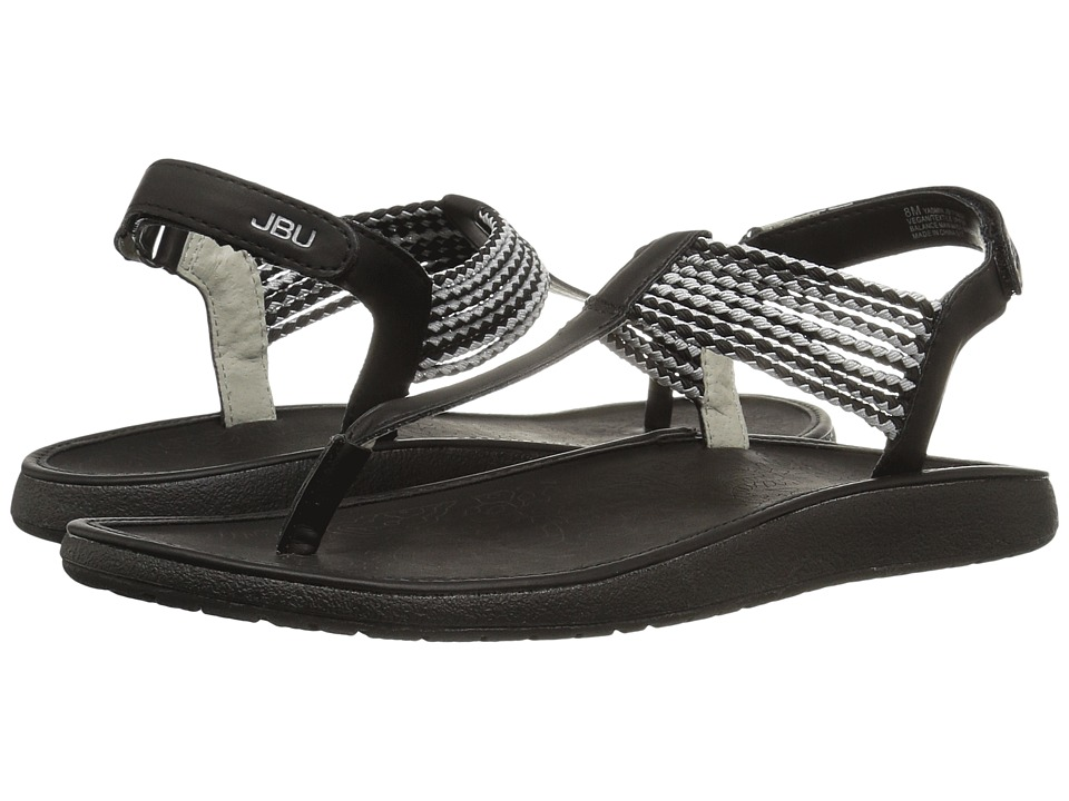 JBU - Yasmin (Black/Silver) Women's Sandals