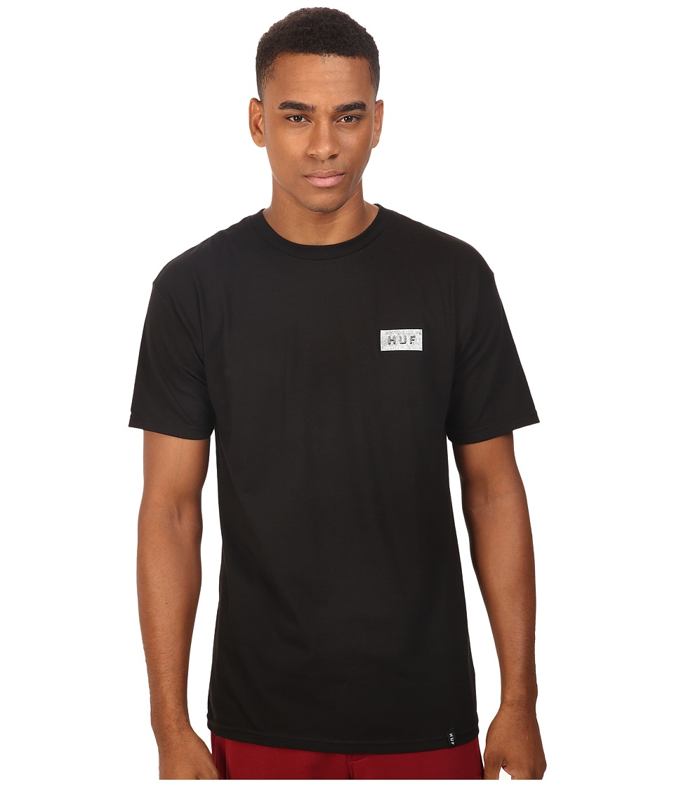 HUF - Concrete Bar Logo Tee (Black) Men's T Shirt