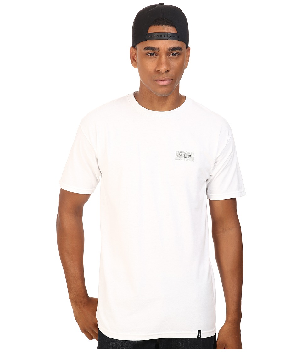 HUF - Concrete Bar Logo Tee (White) Men's T Shirt