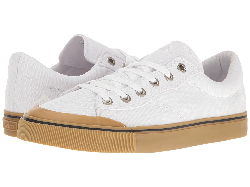 Emerica - Indicator Low (White/Gum) Men's Skate Shoes
