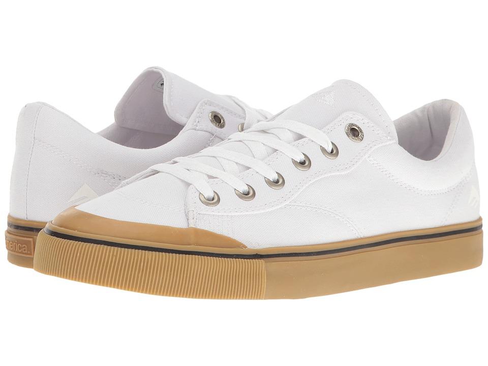 Emerica - Indicator Low (White/Gum) Men's Skate Shoes