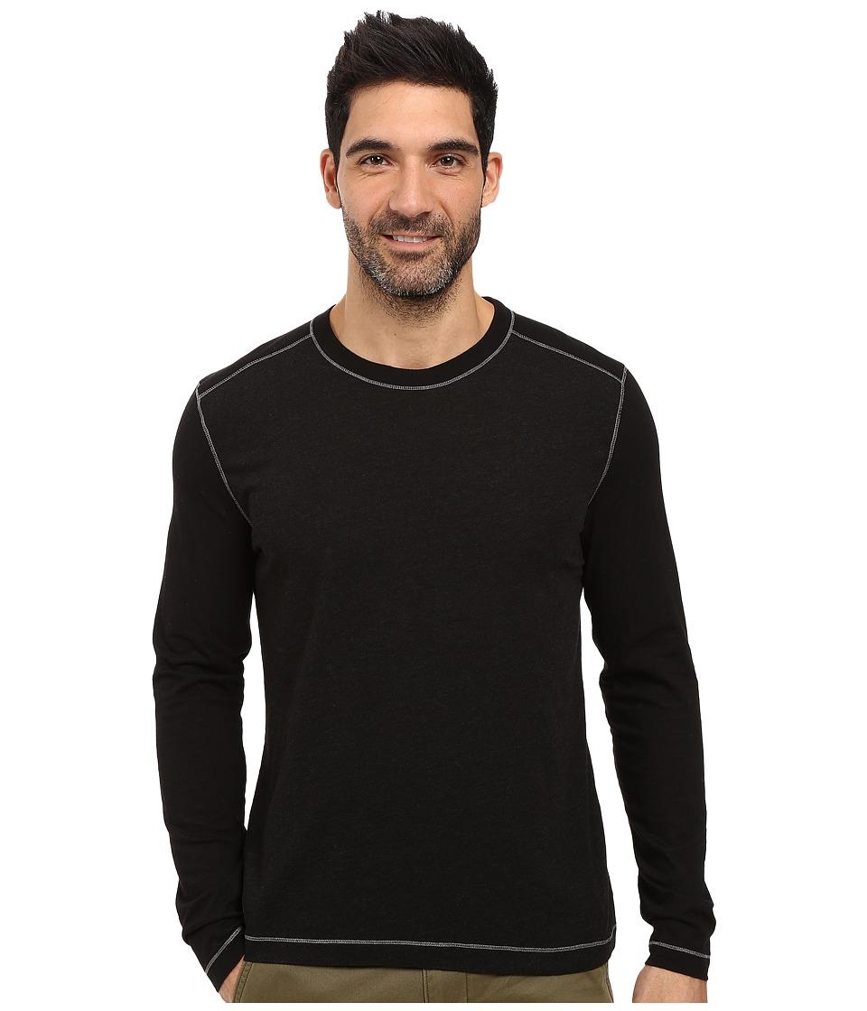 Agave Denim - Chanz Long Sleeve Tri-Blend Slub (Black) Men's Long Sleeve Pullover