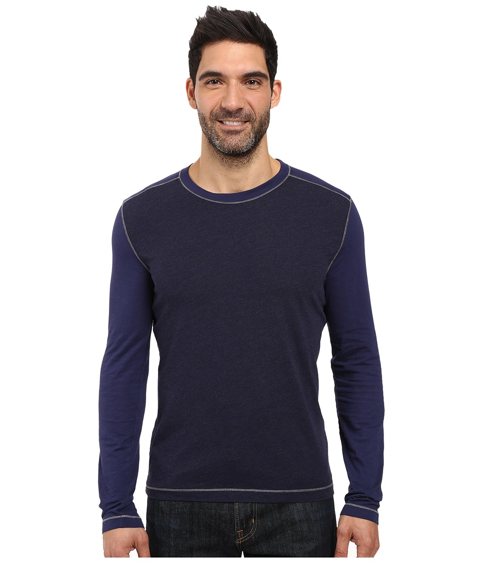 Agave Denim - Chanz Long Sleeve Tri-Blend Slub (Eclipse) Men's Long Sleeve Pullover