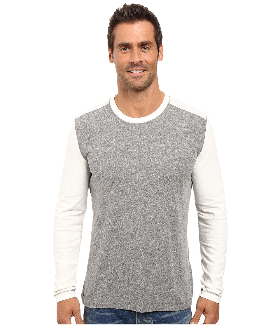 Agave Denim - Chanz Long Sleeve Tri-Blend Slub (Heather Grey) Men's Long Sleeve Pullover