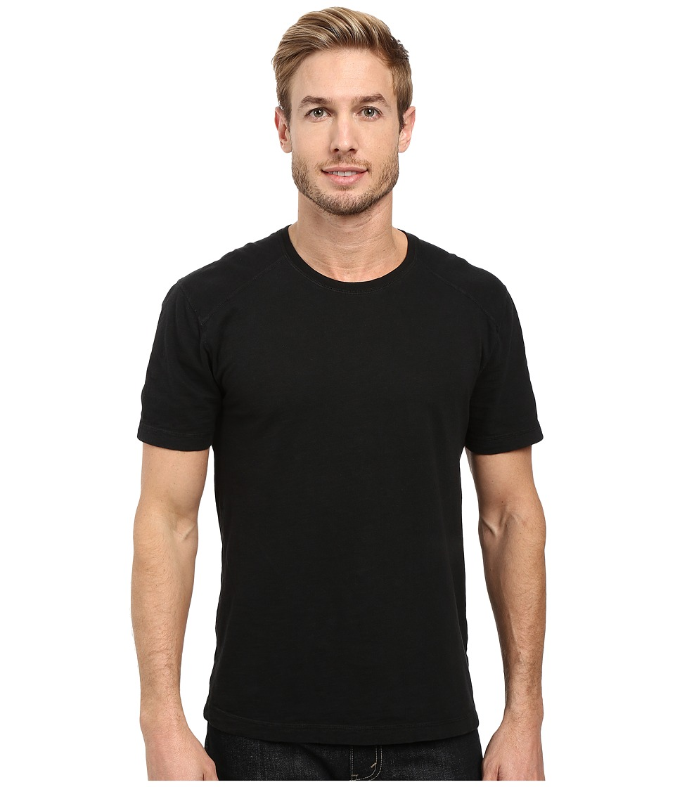 Agave Denim - Banner Short Sleeve 100% Cotton Slub (Black) Men's Short Sleeve Pullover