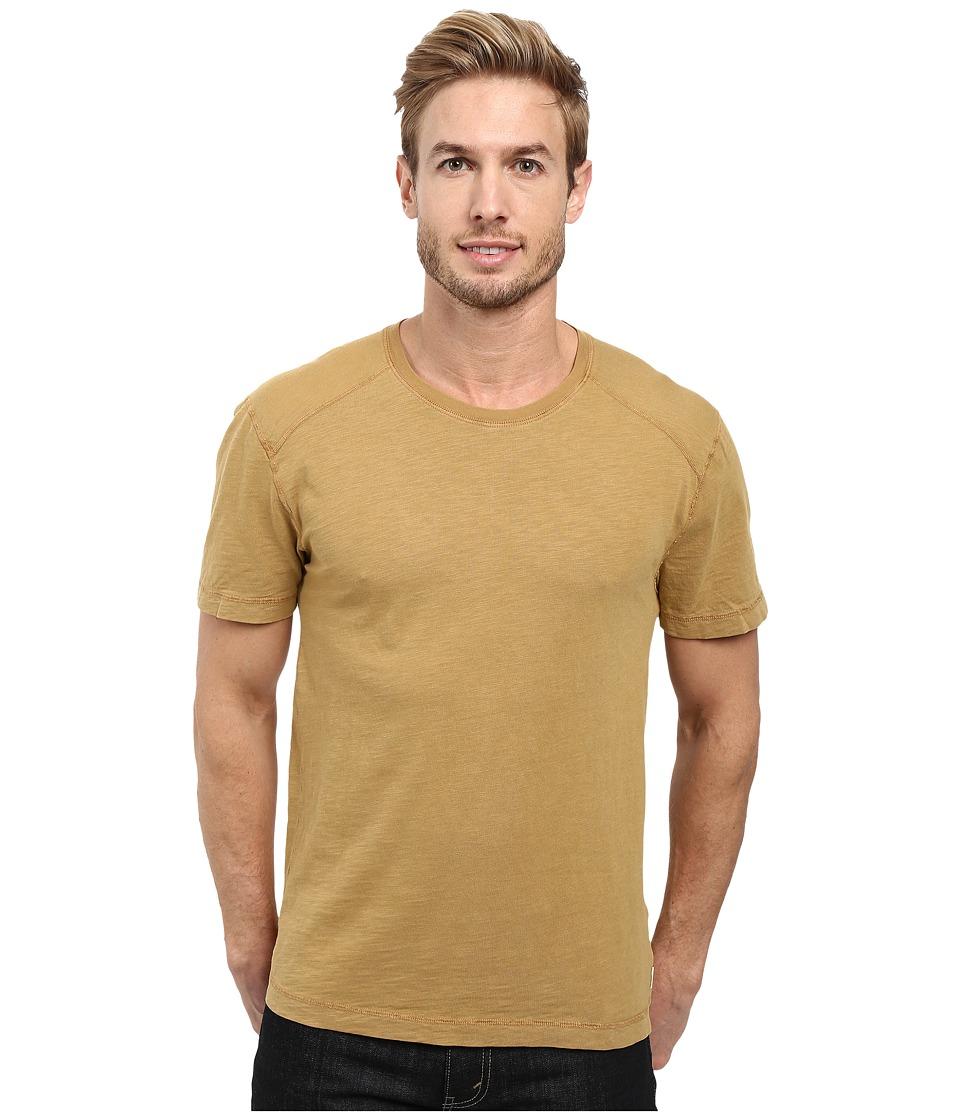 Agave Denim - Banner Short Sleeve 100% Cotton Slub (Dijon) Men's Short Sleeve Pullover