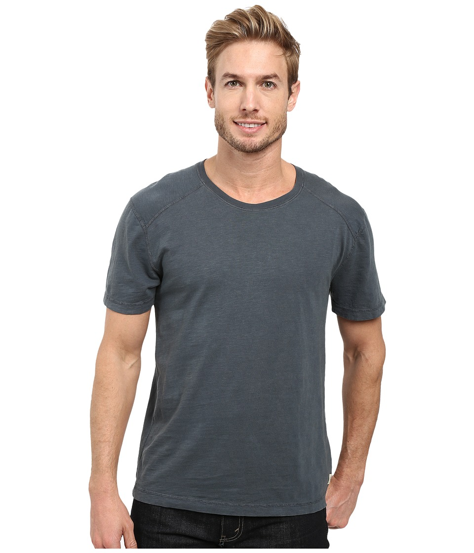 Agave Denim - Banner Short Sleeve 100% Cotton Slub (India Ink) Men's Short Sleeve Pullover