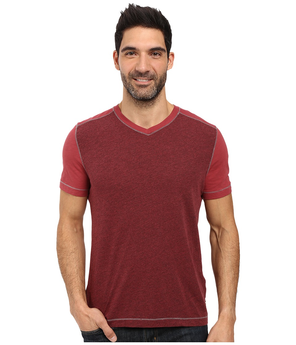 Agave Denim - Amboy Short Sleeve Tri-Blend Slub (Rosewood) Men's Short Sleeve Pullover