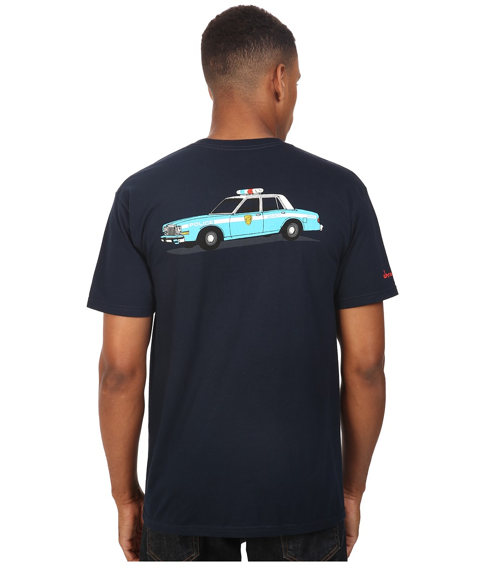 HUF - HUF x Chocolate NY Cop Car Tee (Navy) Men's T Shirt