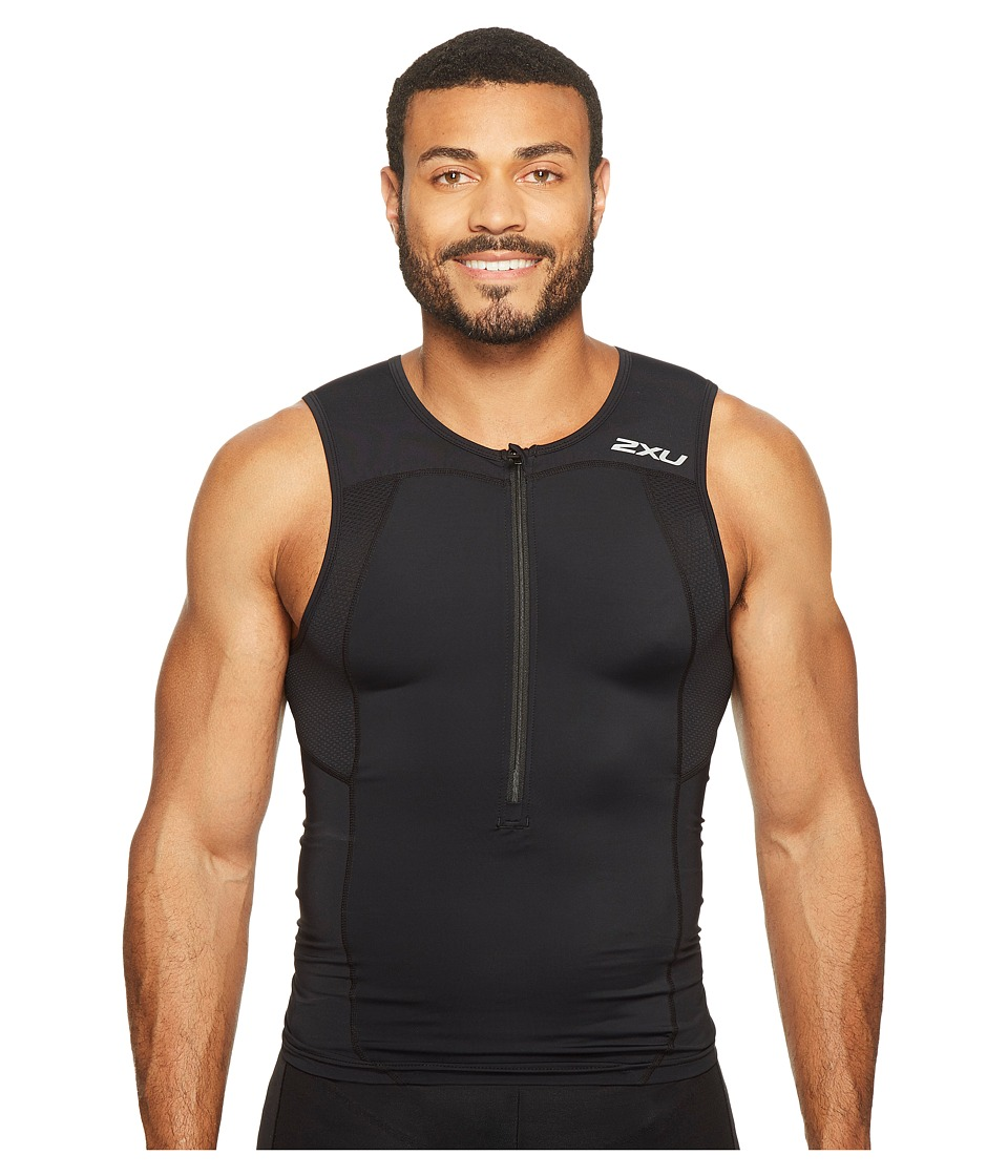 2XU - Active Tri Singlet (Black/Black) Men's Workout