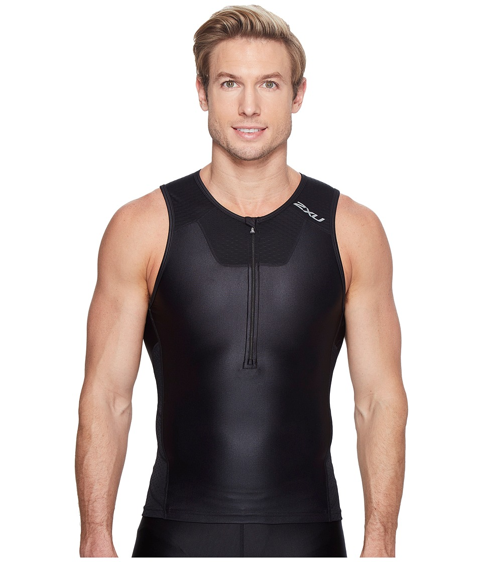 2XU - X-Vent Tri Singlet (Black/Black) Men's Workout