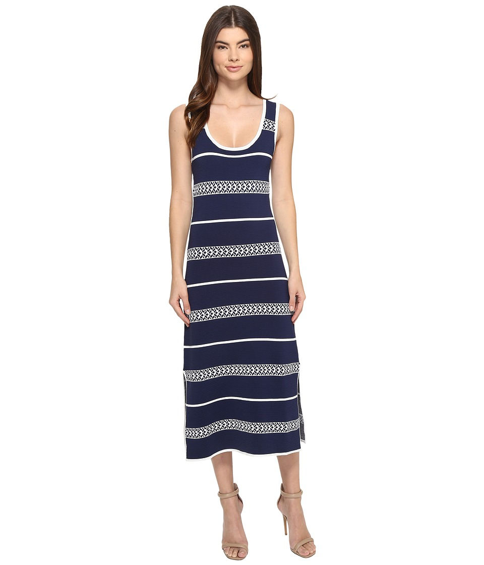 Laundry by Shelli Segal Midi Tank Sweater Dress (Midnight) Women