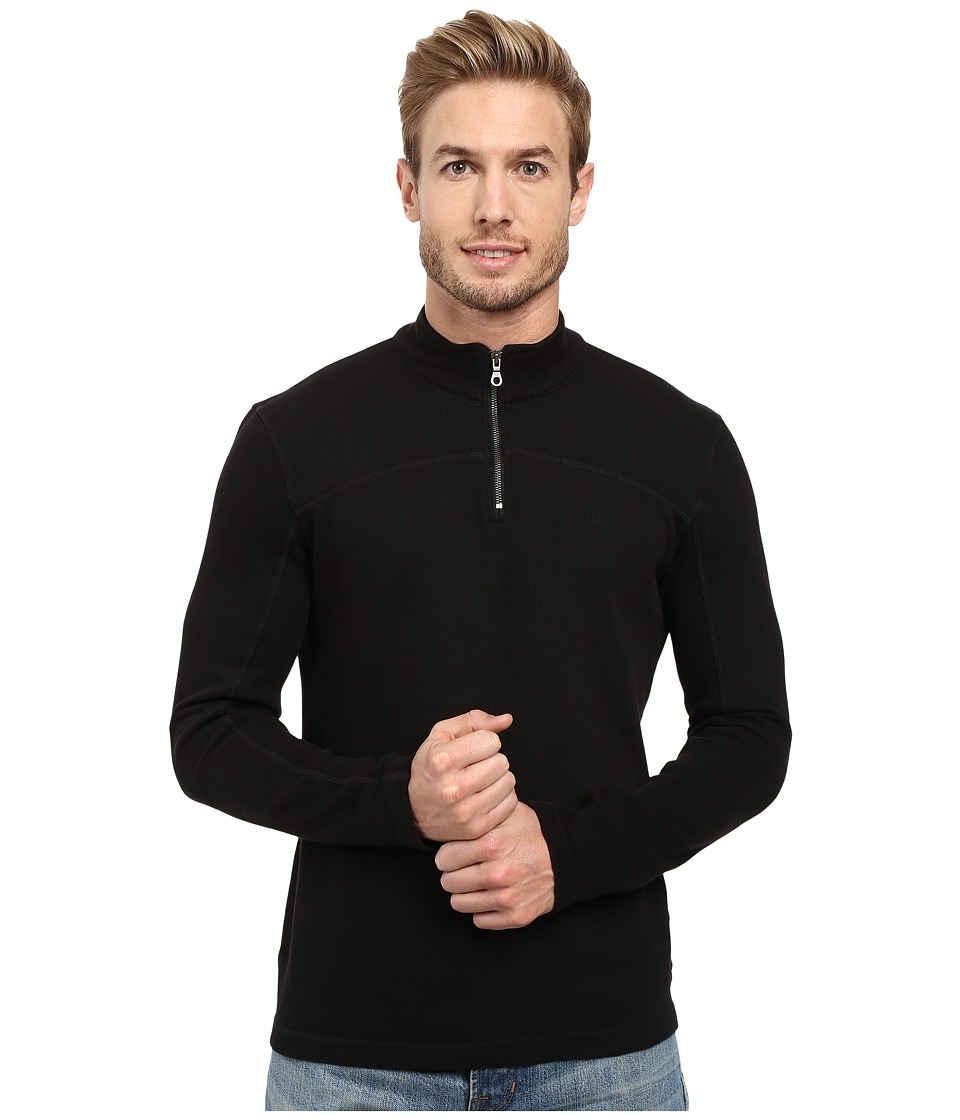 Agave Denim - Butte Long Sleeve Flatback Rib (Black) Men's Long Sleeve Pullover