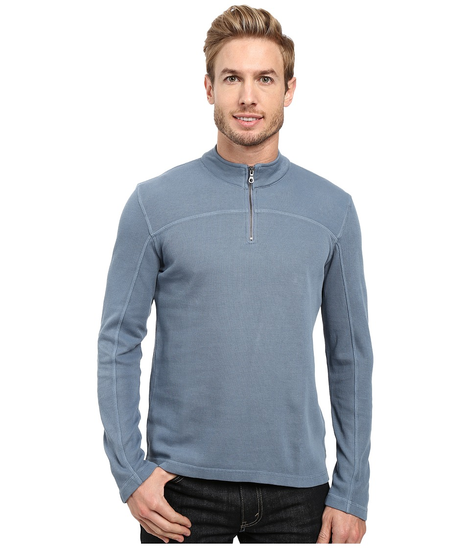 Agave Denim - Butte Long Sleeve Flatback Rib (China Blue) Men's Long Sleeve Pullover
