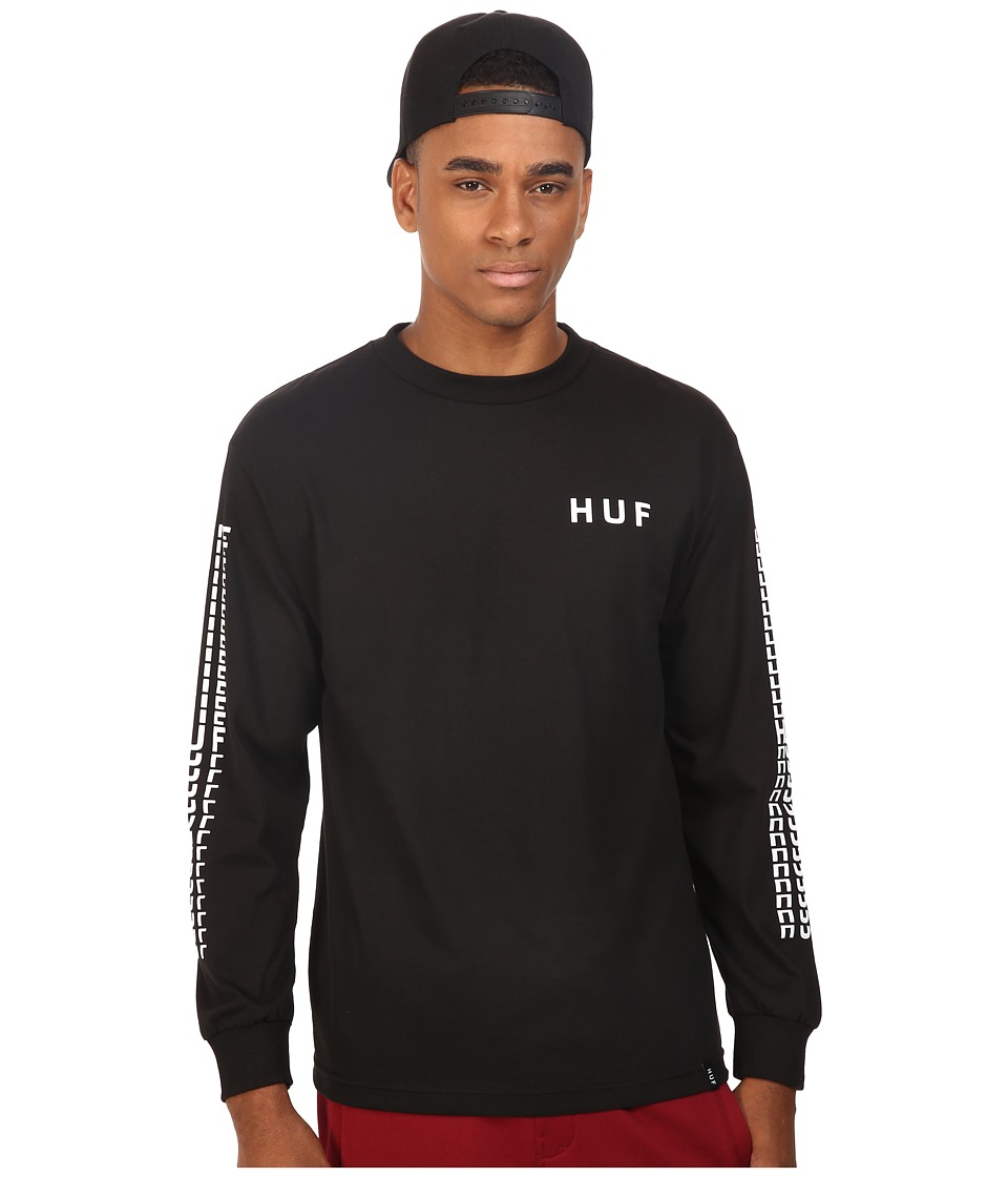 HUF - Sante Long Sleeve Tee (Black) Men's T Shirt