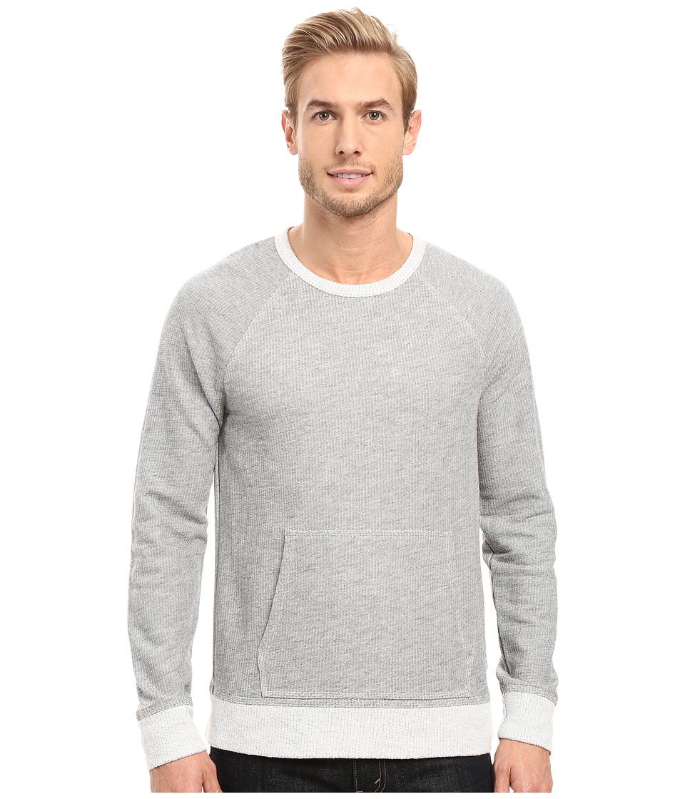 Agave Denim - Bagby Long Sleeve French Terry (Heather Grey) Men's Long Sleeve Pullover