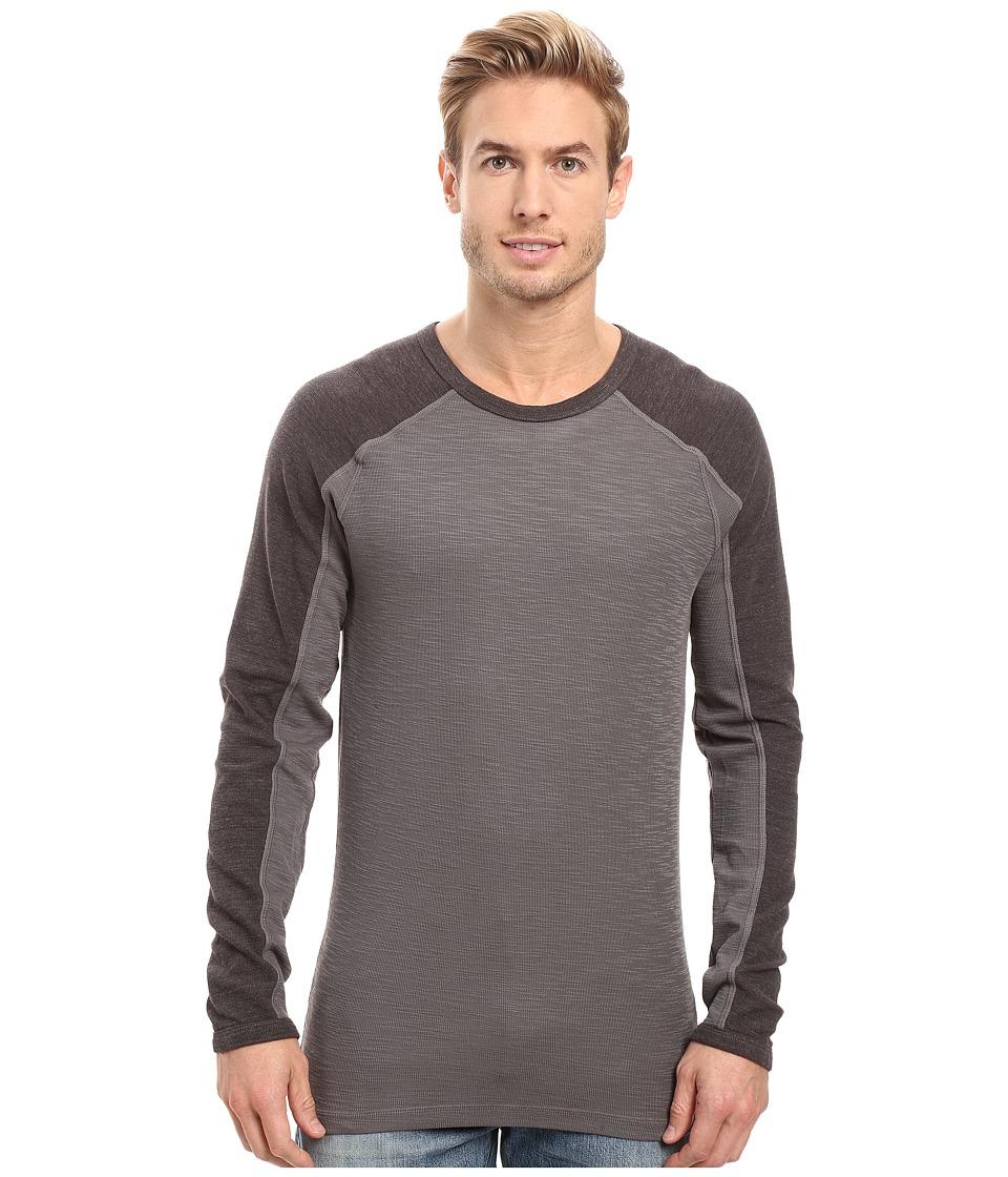 Agave Denim - Lookout Long Sleeve Slub Color Block (Eiffel Tower) Men's Long Sleeve Pullover
