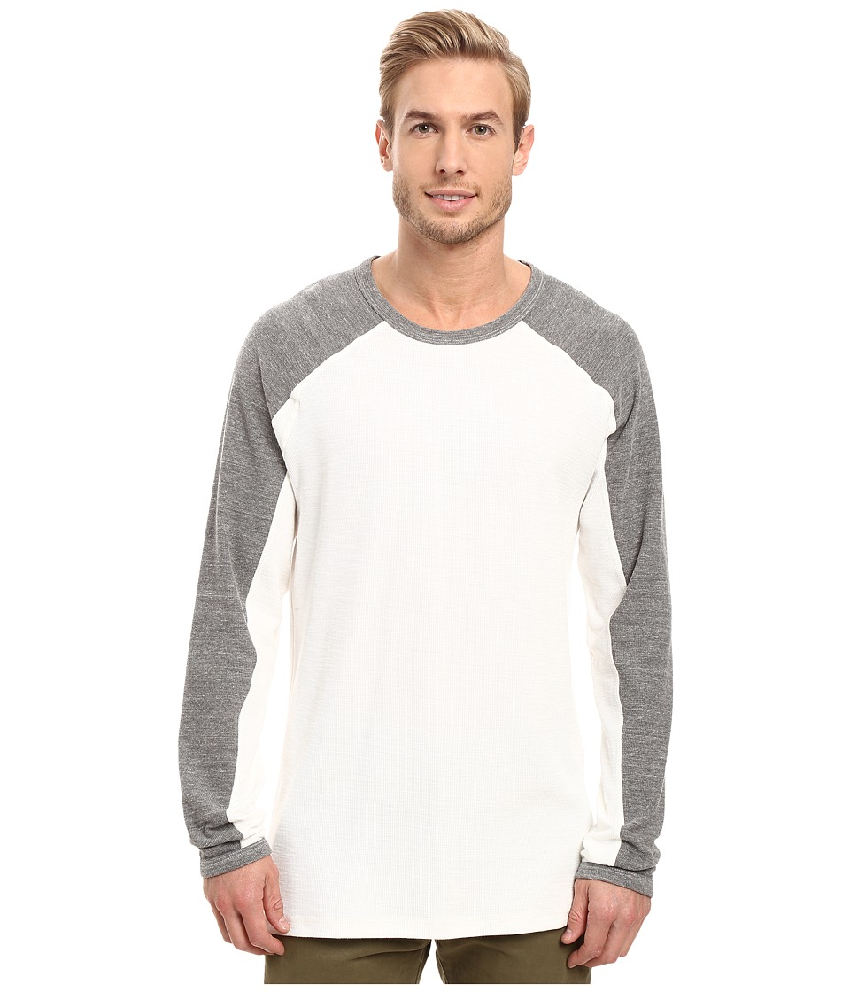 Agave Denim Lookout Long Sleeve Slub Color Block (Natural) Men's Long Sleeve Pullover
