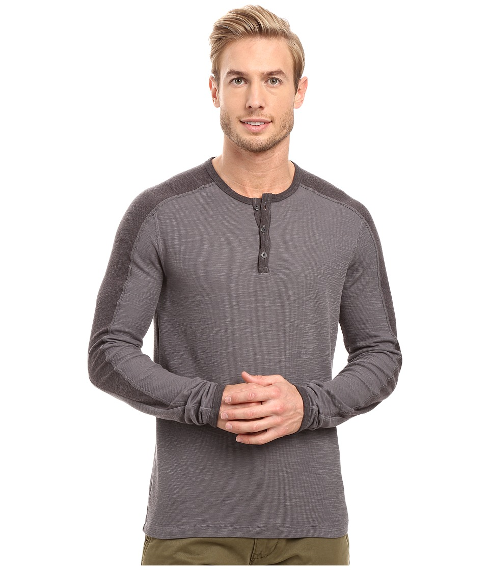 Agave Denim - Calico Long Sleeve Slub Color Block (Eiffel Tower) Men's Long Sleeve Pullover