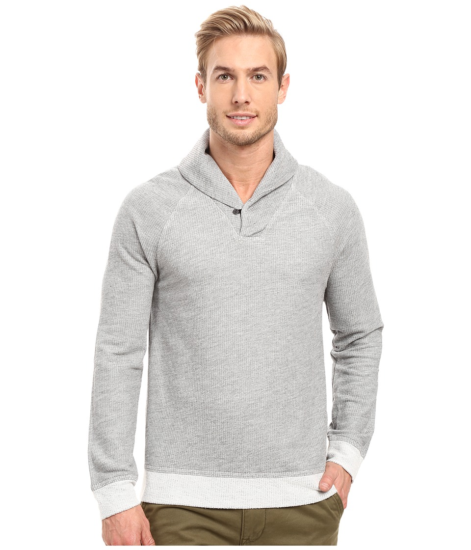 Agave Denim Seneca Long Sleeve French Terry Shawl (Heather Grey) Men's Coat