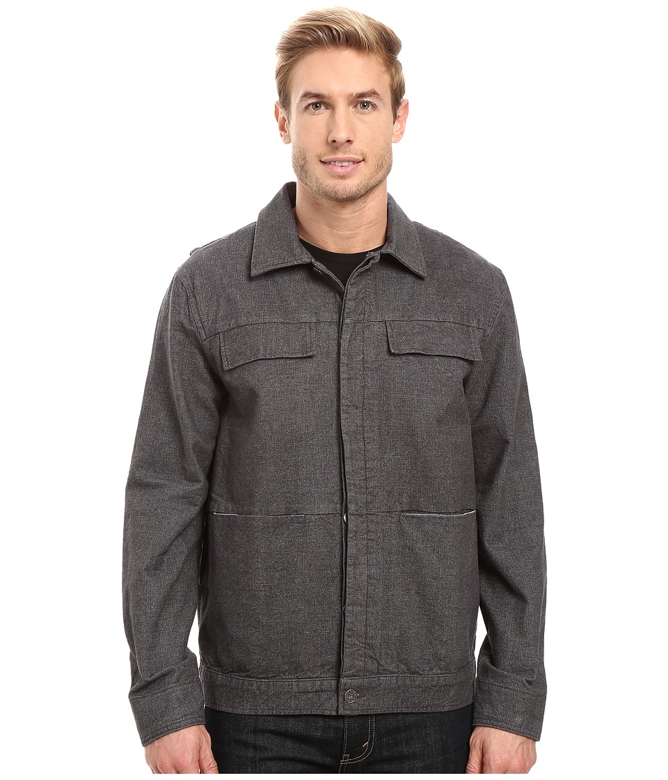 Agave Denim - Lanfair 13.3 Oz Twill Jacket (Charcoal) Men's Coat