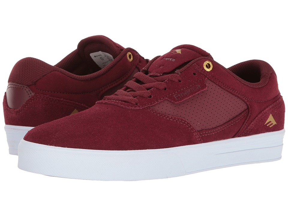 Emerica - Empire G6 (Burgundy/White) Men's Shoes