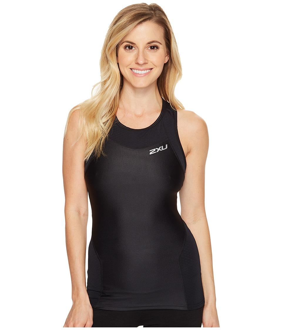 2XU - X-Vent Tri Singlet (Black/Black) Women's Workout