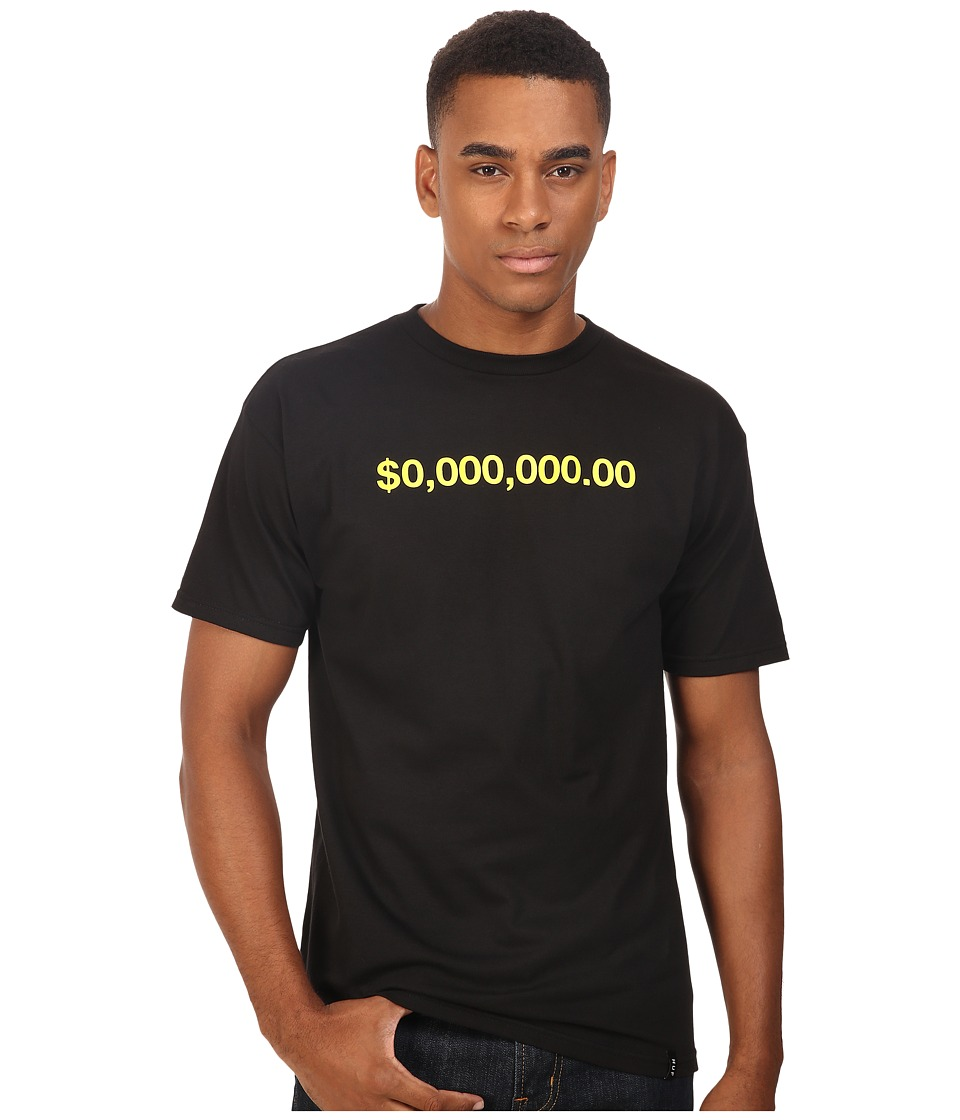 HUF - Zero Million Tee (Black) Men's T Shirt